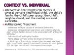 context vs individual