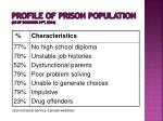profile of prison population as of december 31 st 2004