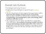 overall job outlook