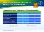 bayer facts of science education xvi hiring stem professionals1