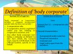 definition of body corporate