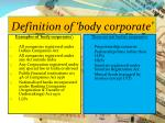 definition of body corporate1