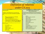 definition of relatives under ca 2013