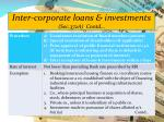 inter corporate loans investments sec 372a contd