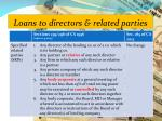 loans to directors related parties