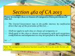 section 462 of ca 2013