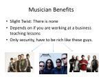 musician benefits