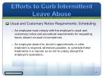 efforts to curb intermittent leave abuse5