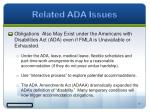 related ada issues