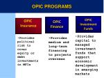 opic finance