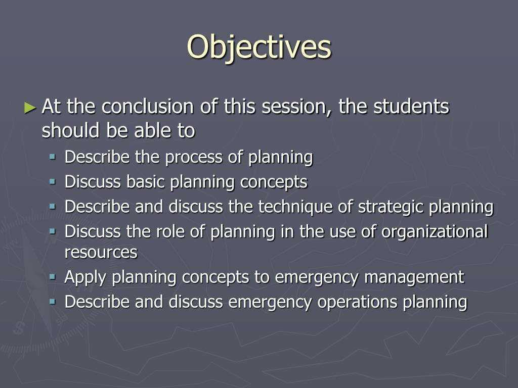 PPT - Session 7 Organizational and Operational Planning