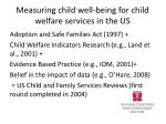 measuring child well being for child welfare services in the us