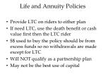 life and annuity policies