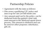 partnership policies