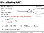 effect of pooling m m 2