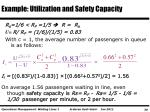 example utilization and safety capacity