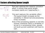 factors affecting queue length