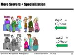 more servers specialization
