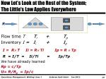 now let s look at the rest of the system the little s law applies everywhere