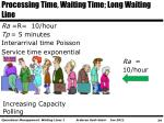 processing time waiting time long waiting line