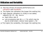 utilization and variability