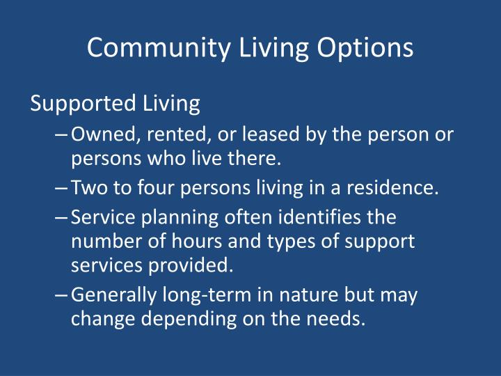 Community Living Options
