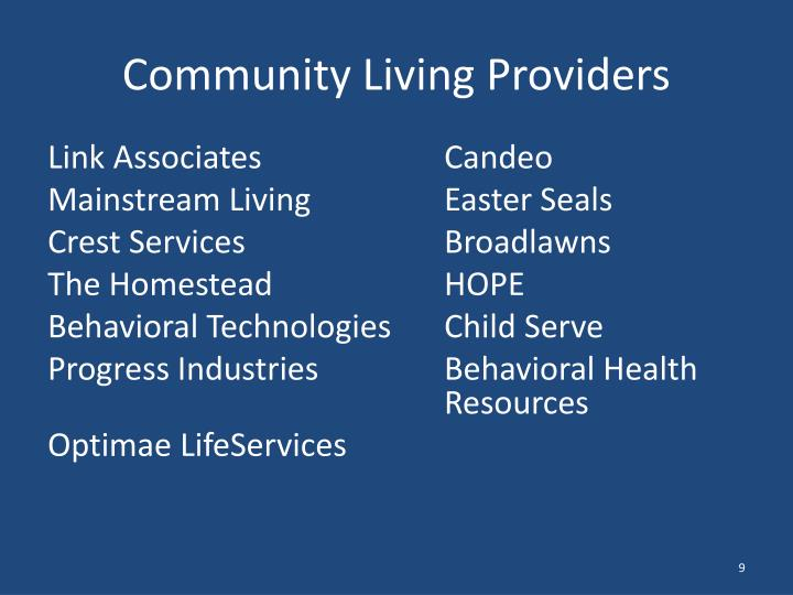 Community Living Providers