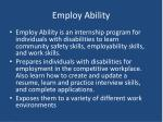 employ ability