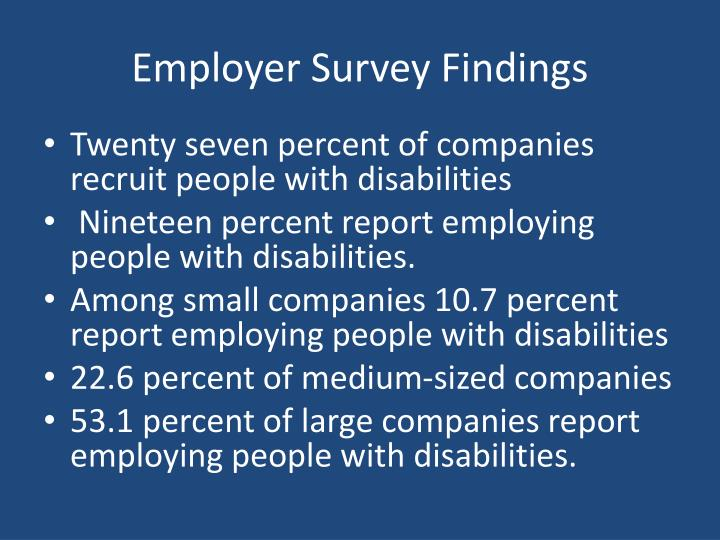 Employer Survey Findings