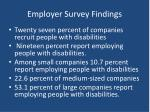 employer survey findings