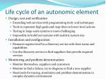 life cycle of an autonomic element