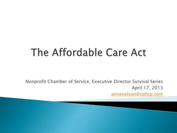 the affordable care act n.