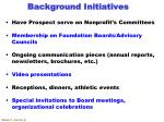 background initiatives