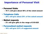 importance of personal visit