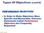 types of objectives cont d2