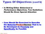 types of objectives cont d6