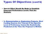 types of objectives cont d8