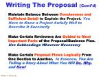 writing the proposal cont d1