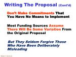writing the proposal cont d2