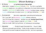 solutions efficient buildings
