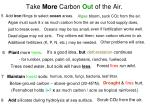 take more carbon out of the air
