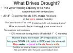 what drives drought