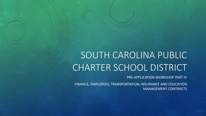 south carolina public charter school district n.