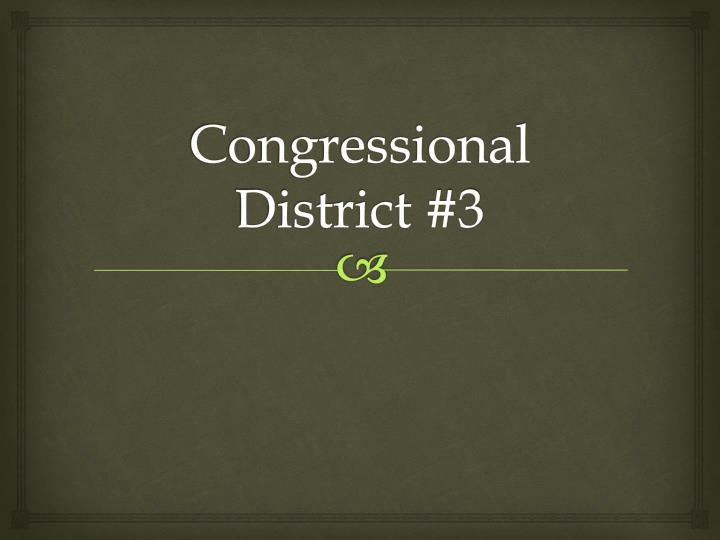 congressional district 3 n.