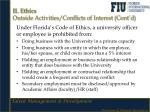 ii ethics outside activities conflicts of interest cont d