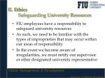 ii ethics safeguarding university resources