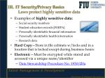 iii it security privacy basics laws protect highly sensitive data