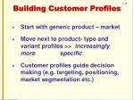 building customer profiles