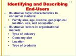 identifying and describing end users