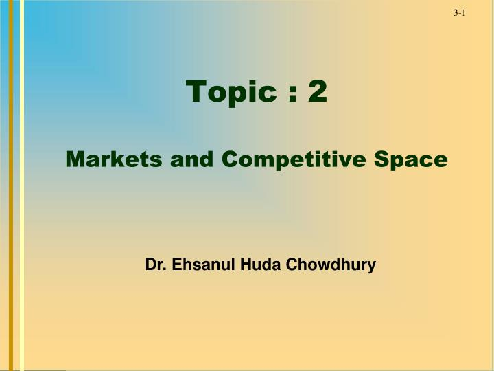 topic 2 markets and competitive space n.